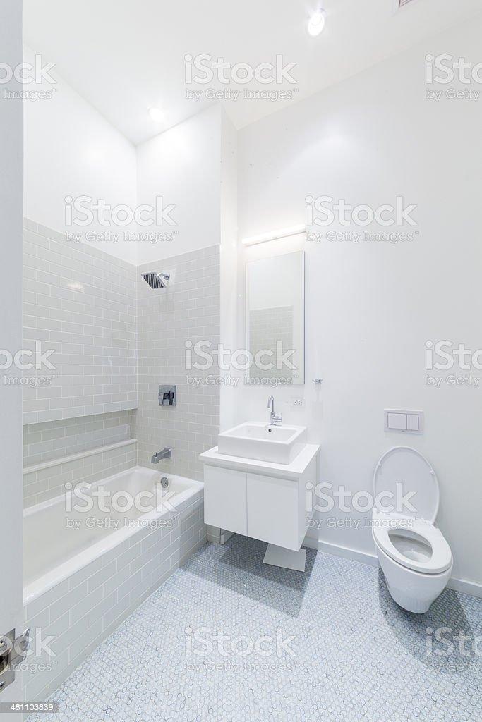 Home lavatory interior stock photo