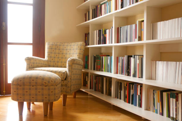 Home library stock photo