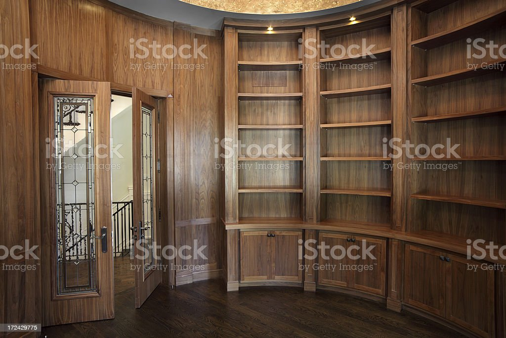 Home Library wall unit royalty-free stock photo