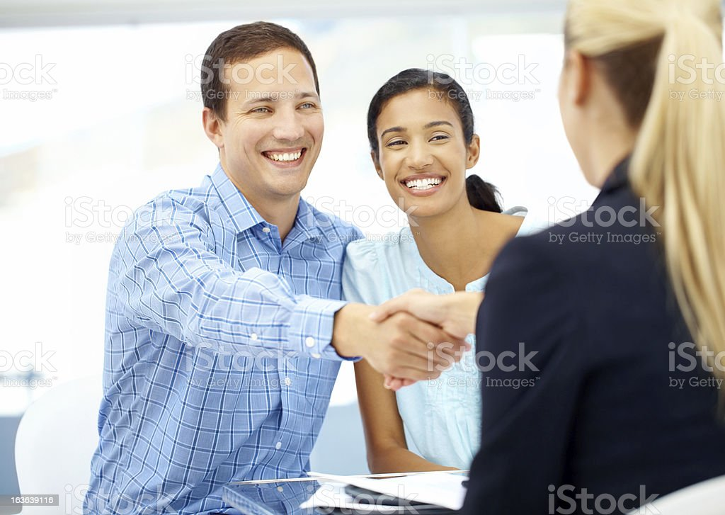 Home loan approved! royalty-free stock photo