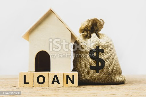 istock Home loan, mortgage, home insurance, financial mortgage for house concept. 1142857636