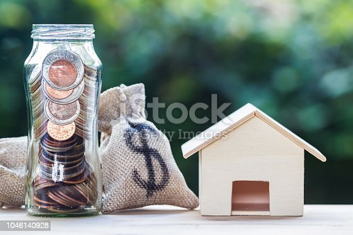 1048402108istockphoto Home loan, mortgages, property investment, savings money concept. 1046140928