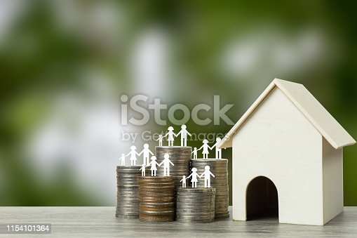 istock Home loans, cheap home projects, first homes to start a family concept. 1154101364