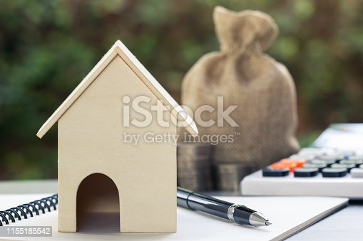 istock Home loans, cheap home projects, first homes to start a family concept. 1155185542
