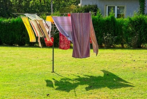 Home loundry dyring on sun