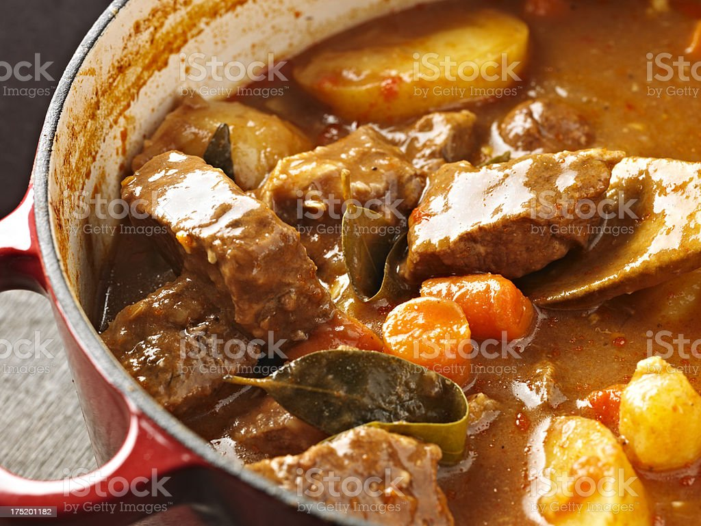 Home Made Beef Stew stock photo