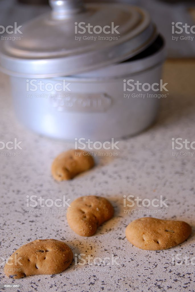 Home made biscuits royalty-free stock photo