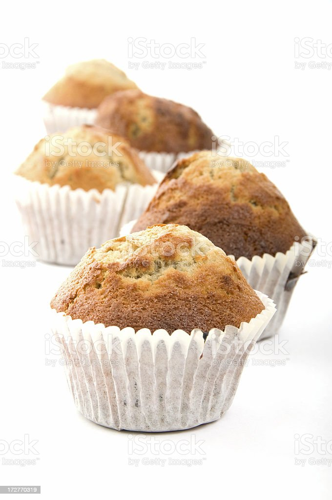 Home made blueberry muffins royalty-free stock photo