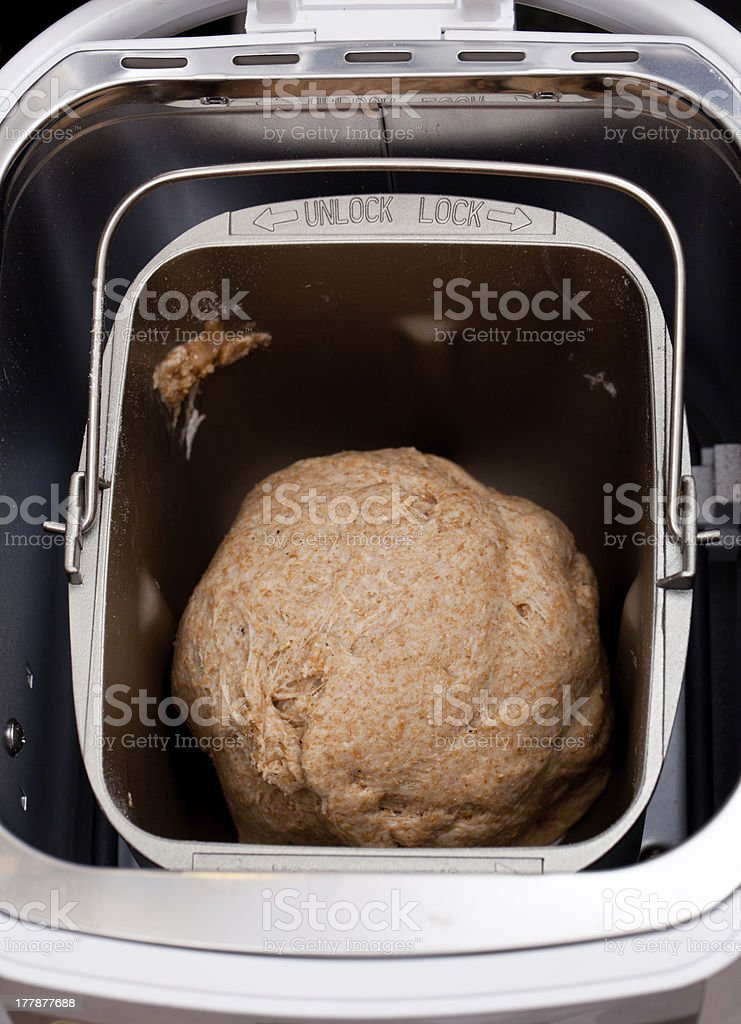 Home made bread making royalty-free stock photo