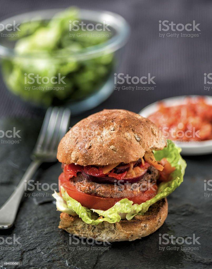 Home made Burger stock photo