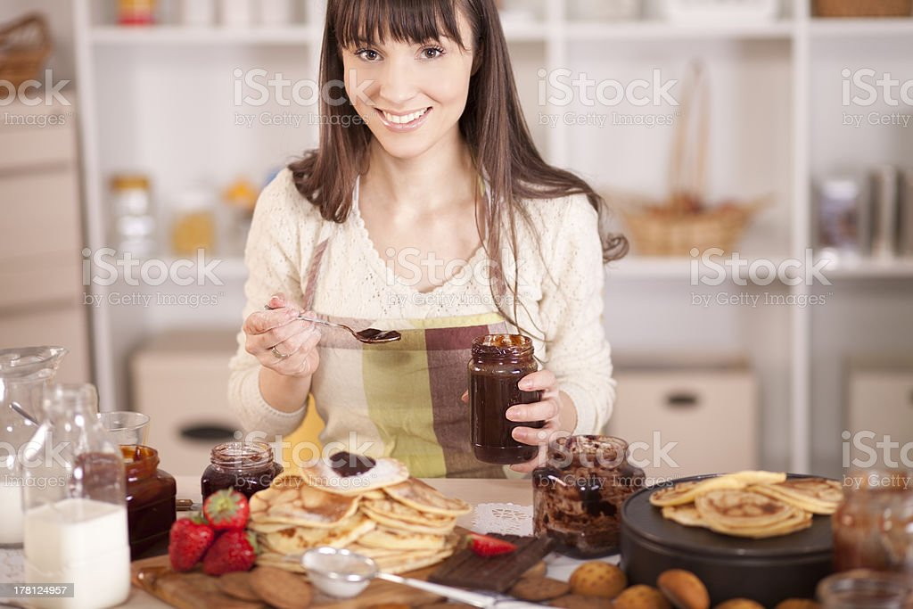 Home made cookies,pancakes,gingerbread and biscuit. royalty-free stock photo