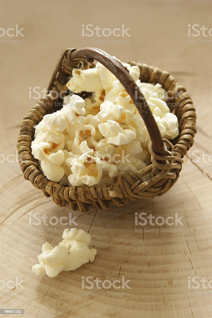 home made fresh sweet popcorn from corn royalty-free stock photo