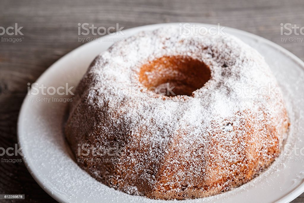 Home made freshly baked whole marble cake stock photo