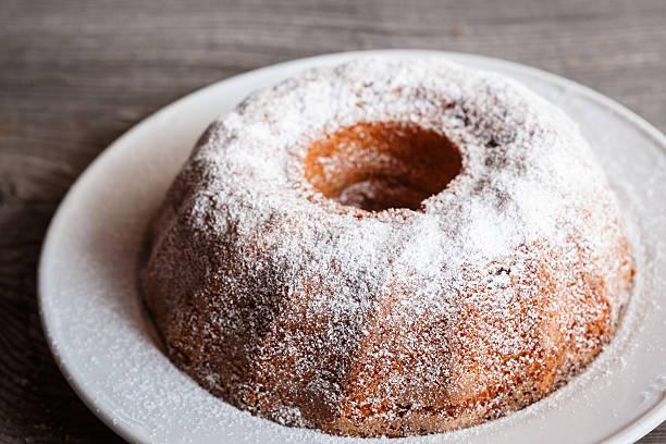 Home made freshly baked whole marble cake - foto de acervo