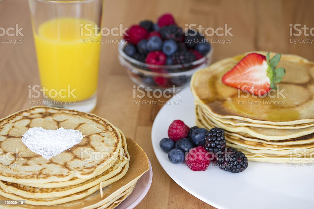 Home made pancakes royalty-free stock photo