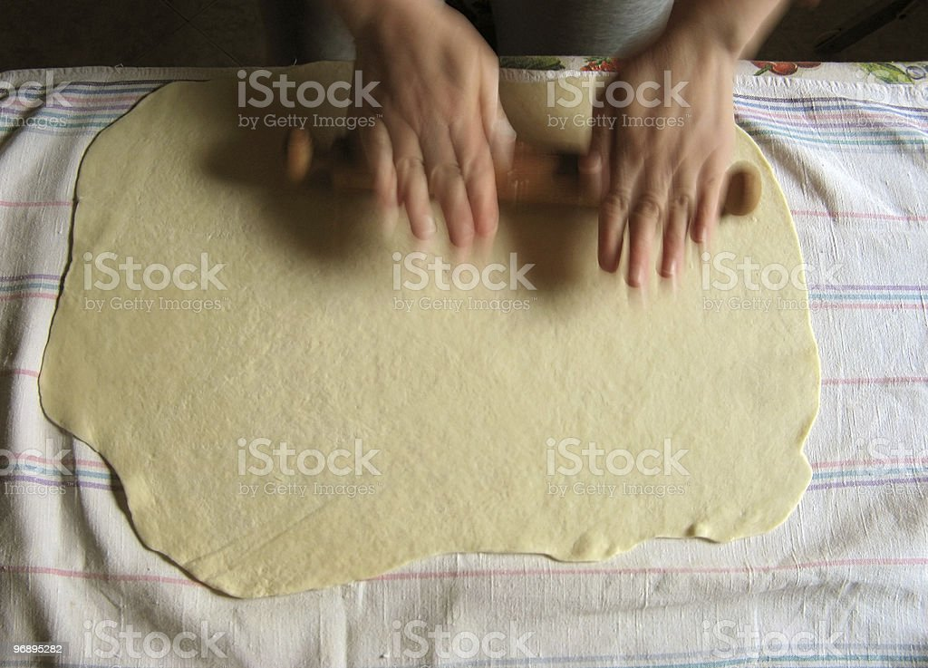 Home made pasta royalty-free stock photo