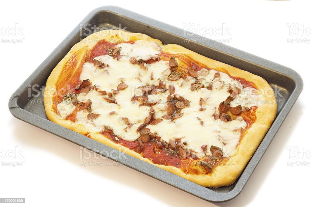 Home made pizza royalty-free stock photo