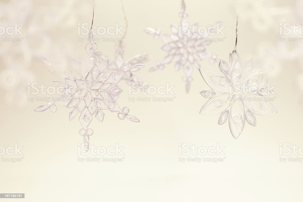 Home made snowflakes. royalty-free stock photo