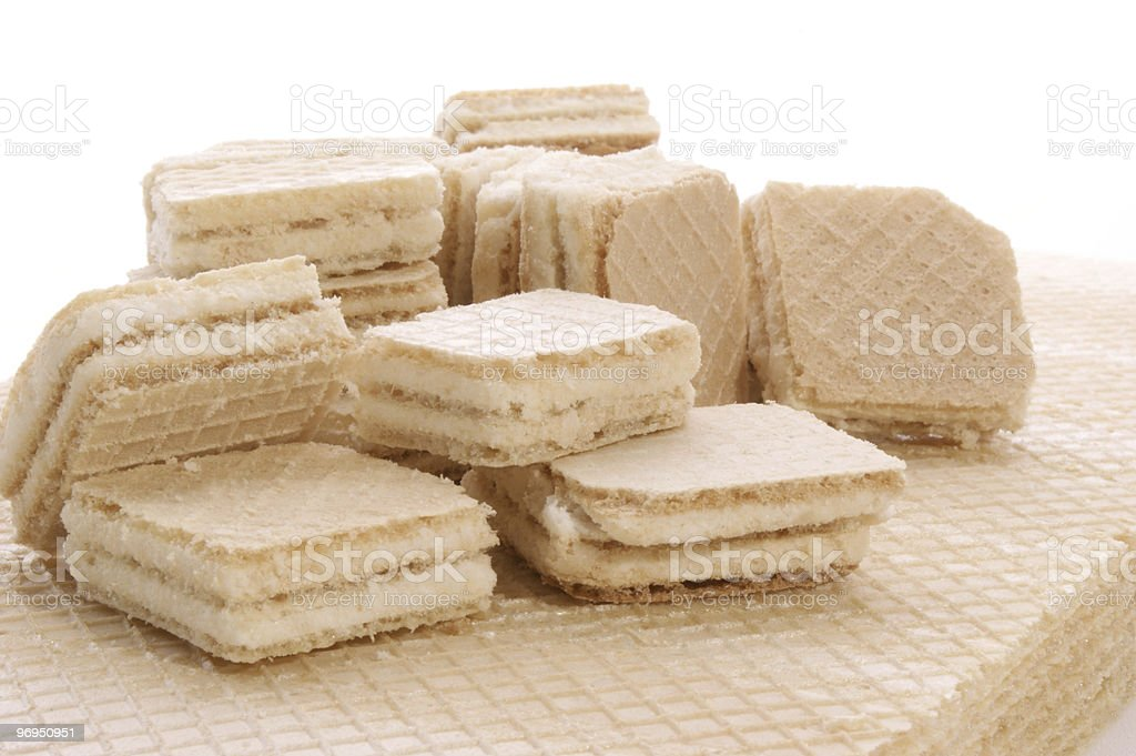 home made wafers with vanilla cream royalty-free stock photo