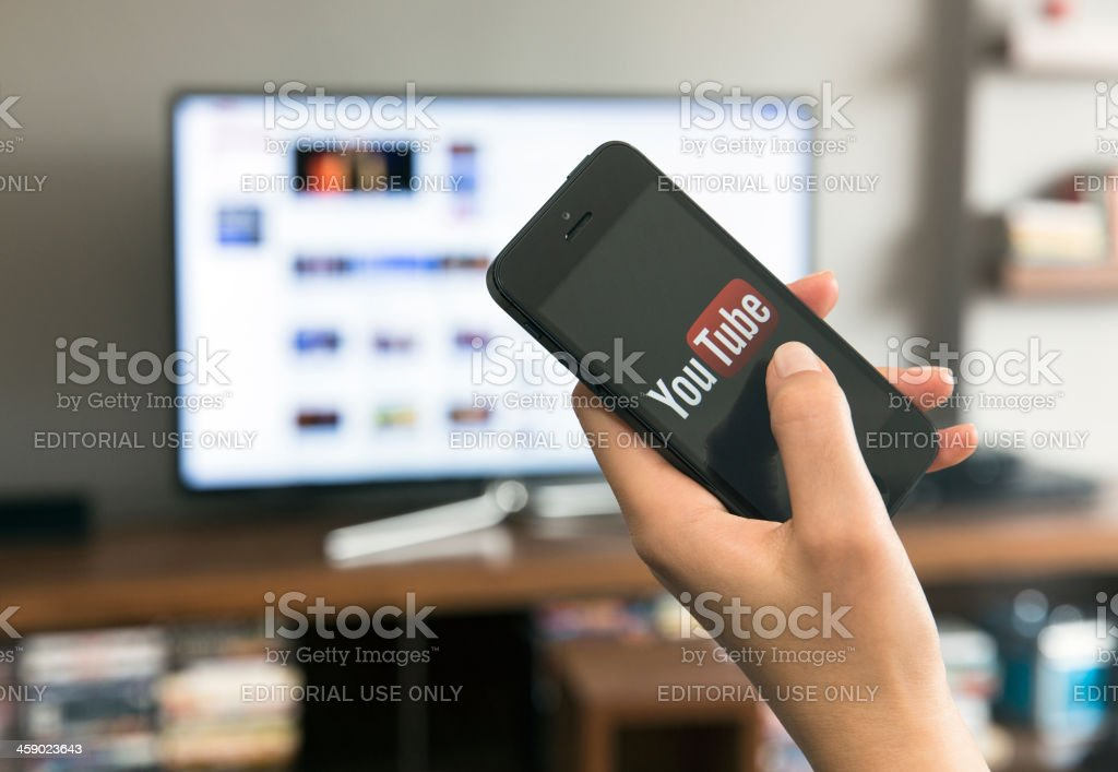 Home media sharing technology stock photo