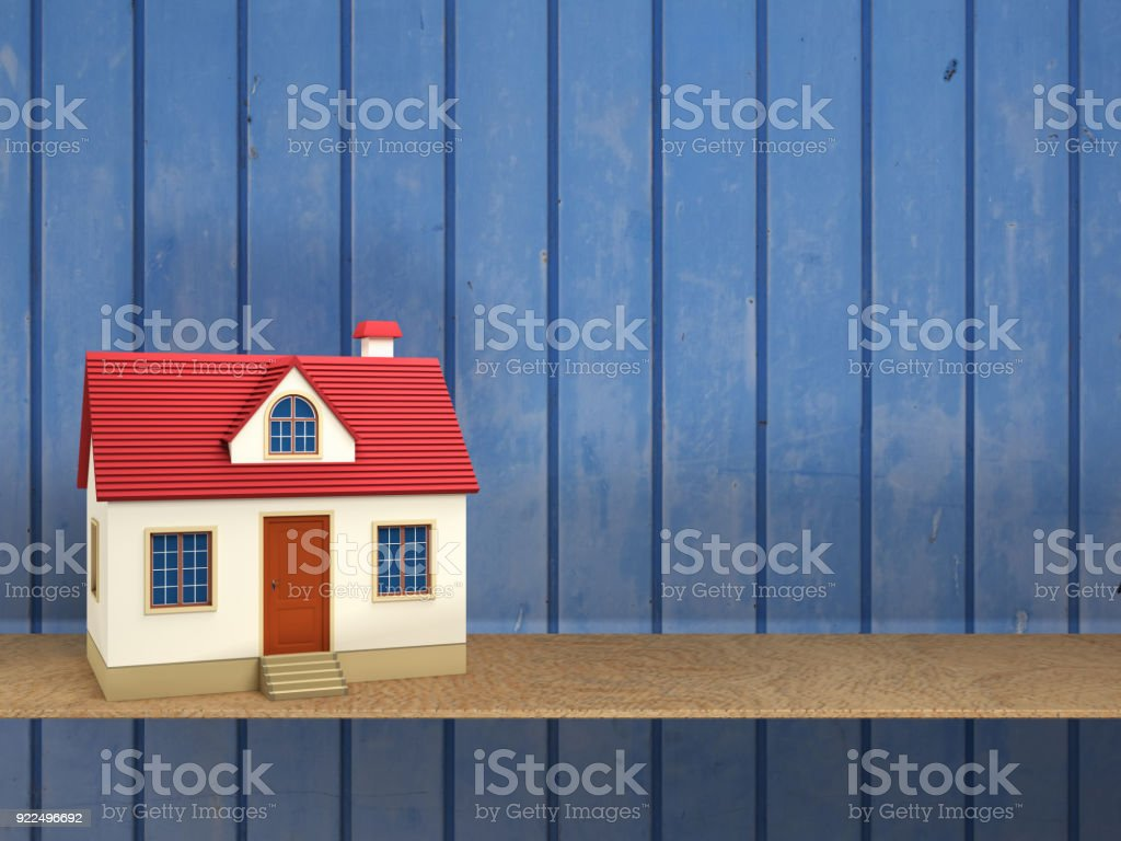 Home Model 3D Rendering Image stock photo