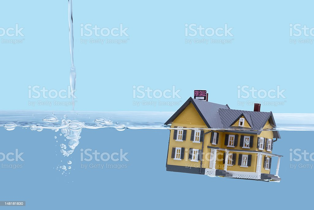 Home mortgage crisis concept stock photo