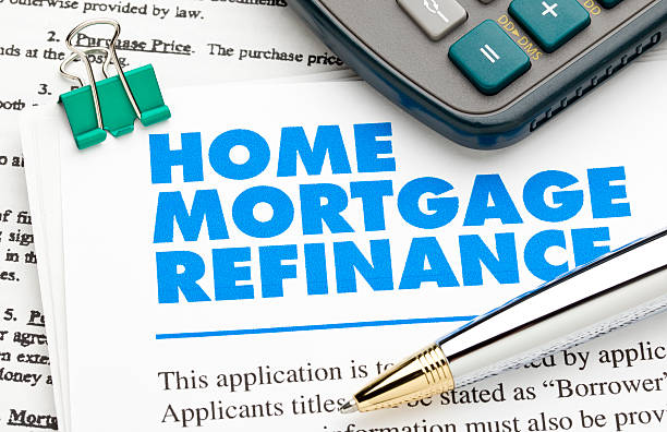 Home Mortgage Refinance stock photo