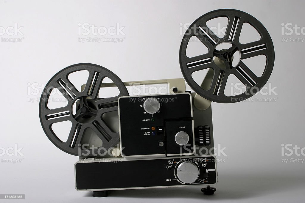 Home movie  projector stock photo