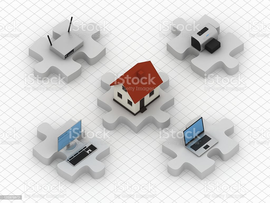 Home Network - Isometric royalty-free stock photo