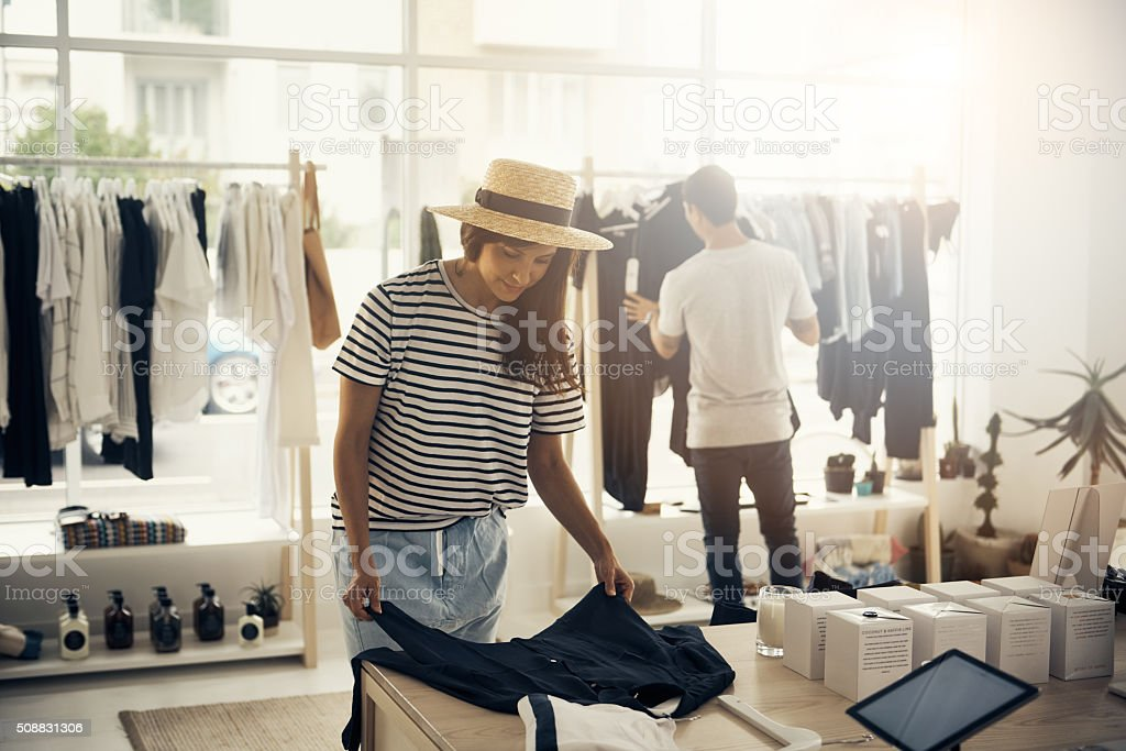 Home of everything fashionable stock photo