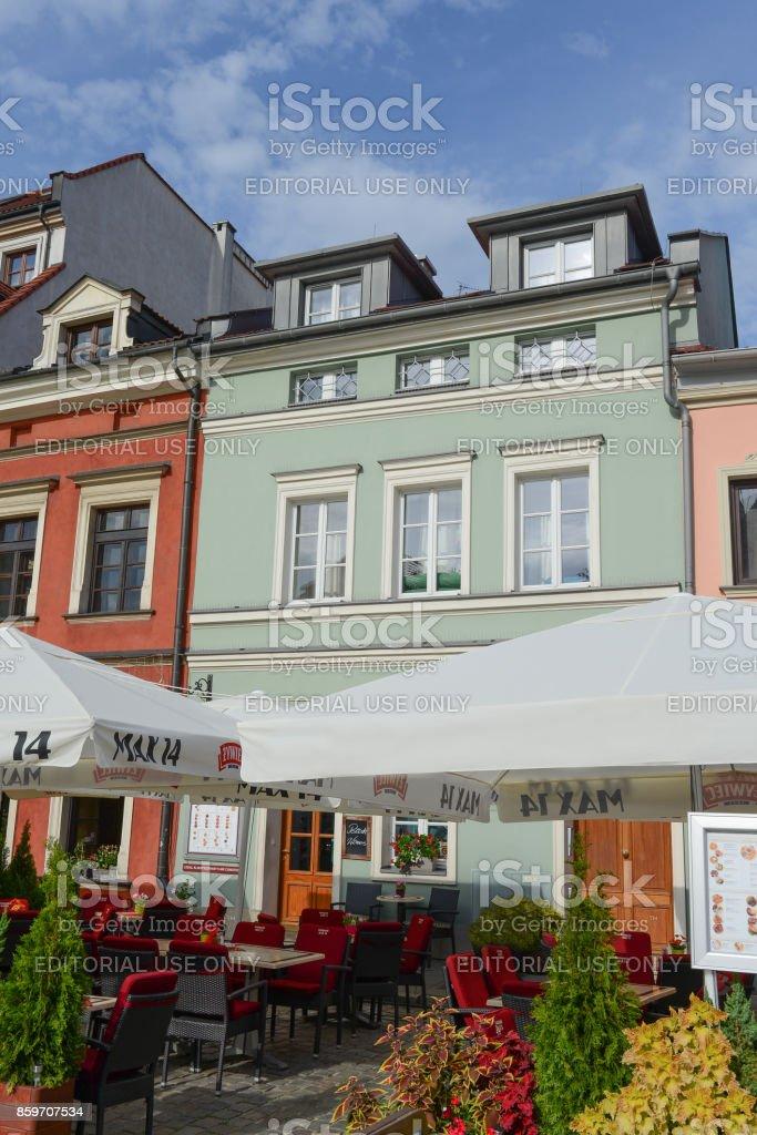 home of the Helena Rubinstein - Krakow - Poland stock photo