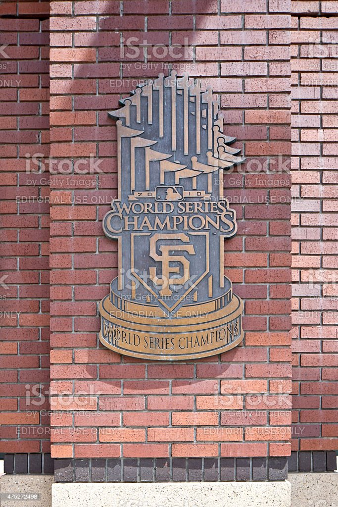 Home of the San Francisco Giants World Series Champions stock photo