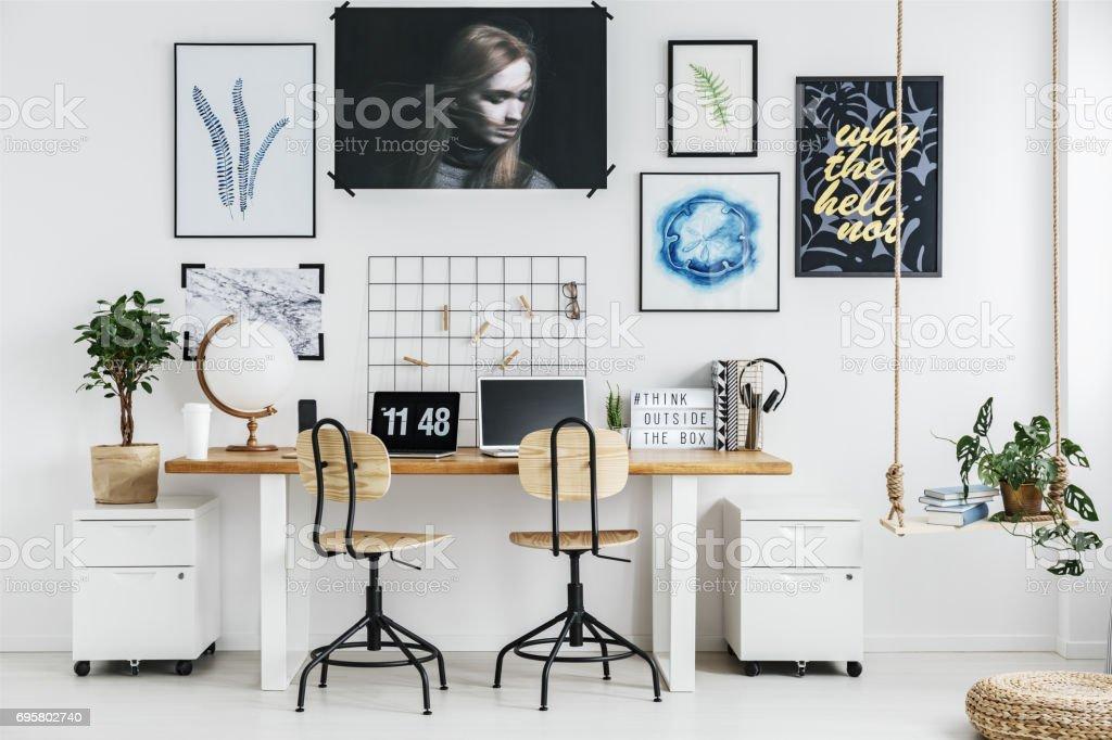 Home office design stock photo