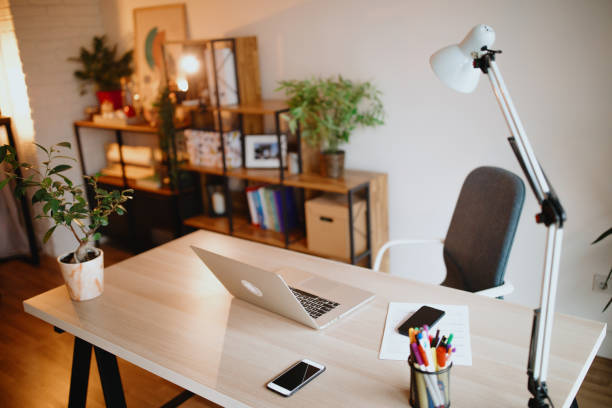 home office - escrivaninha - fotografias e filmes do acervo