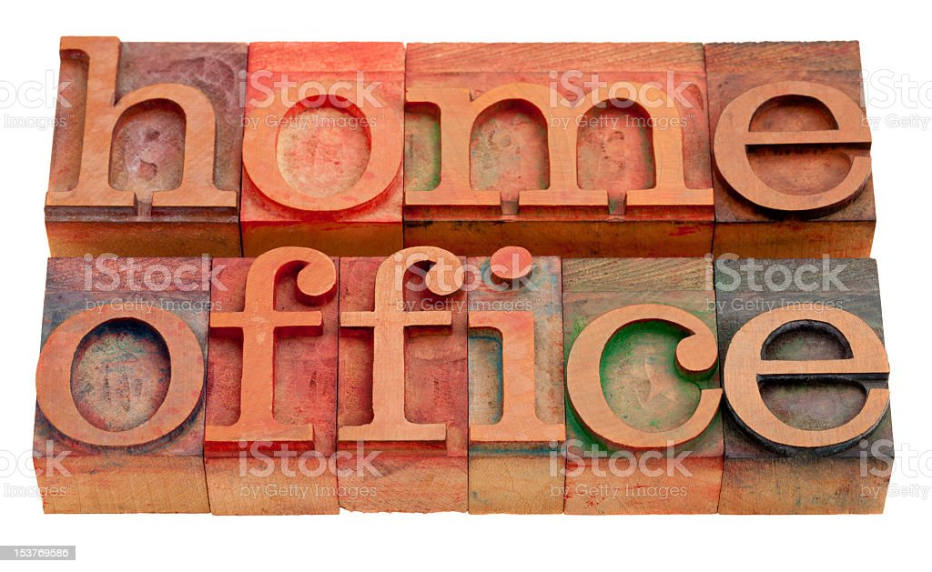 Home office tiles in many colors royalty-free stock photo