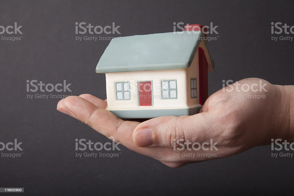 home on hand royalty-free stock photo