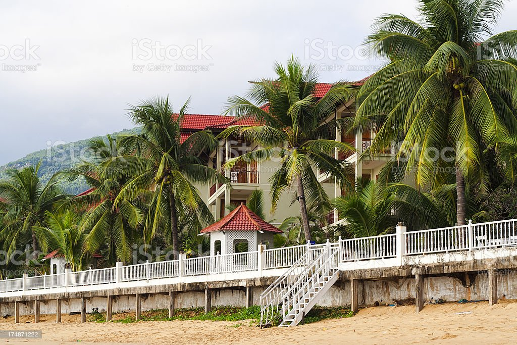 Home on the Beach, Vietnam royalty-free stock photo