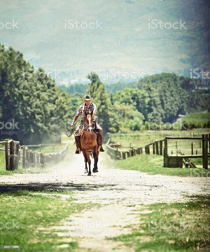 Home on the ranch royalty-free stock photo