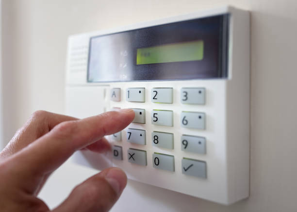 home or office security - alarm stock pictures, royalty-free photos & images