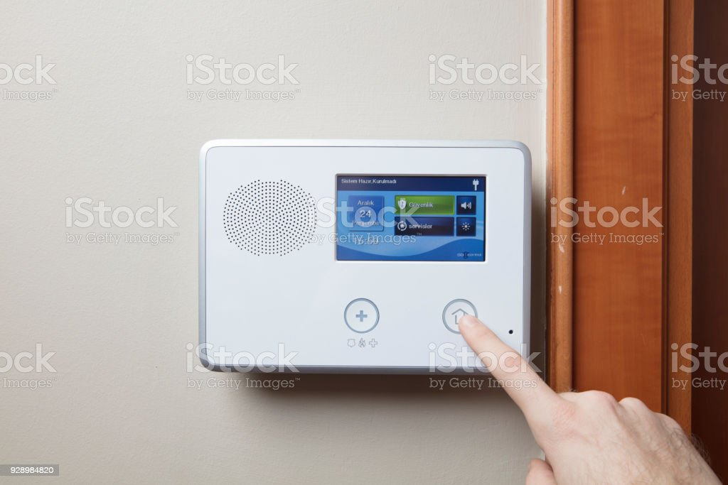 Home or office security stock photo