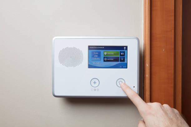 beveiliging voor thuis of op kantoor - alarm, home, stockfoto's en -beelden