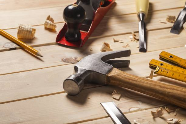 Home. Home wood kit closeup manual steel activity hammer stock pictures, royalty-free photos & images