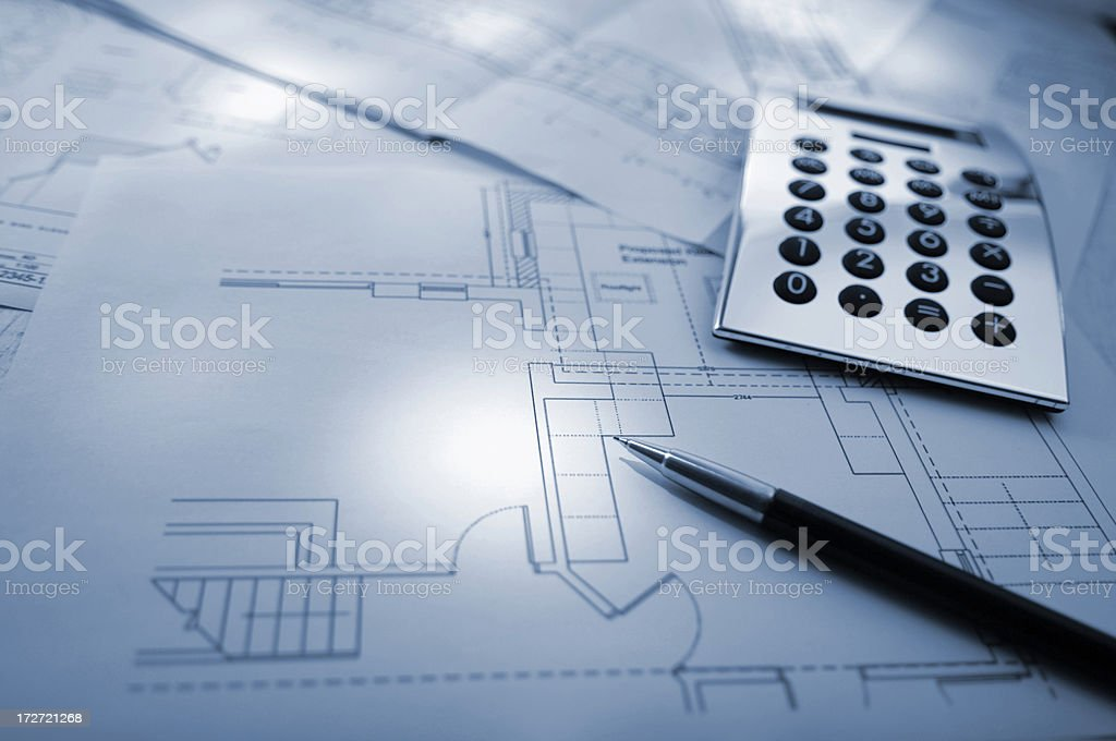 home plan series royalty-free stock photo