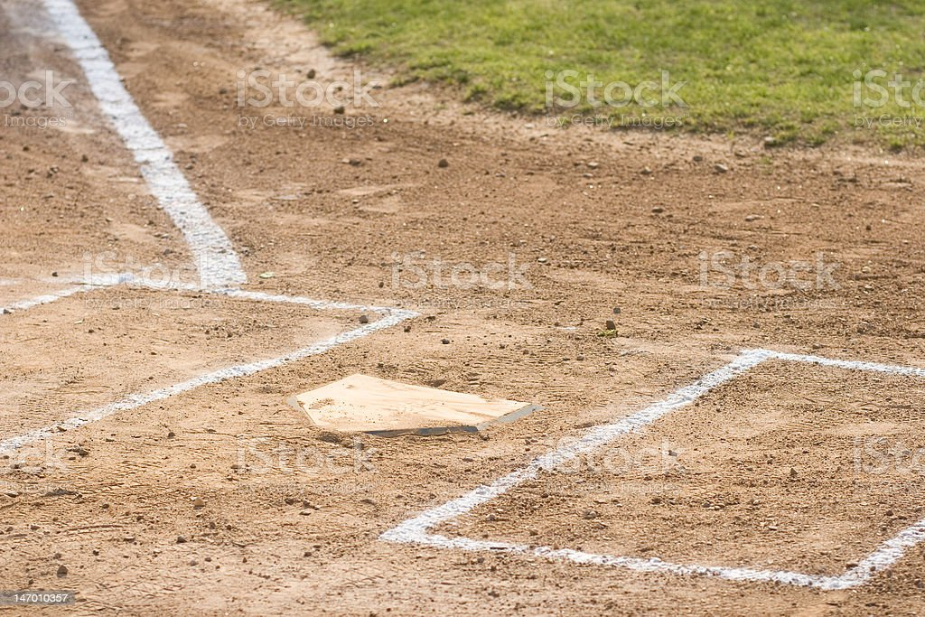 Home Plate and Batter's Box royalty-free stock photo