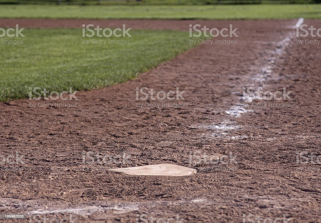 Home Plate Shallow Focus royalty-free stock photo
