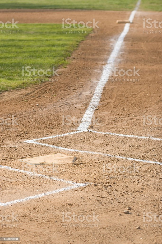 Home Plate to First Base stock photo