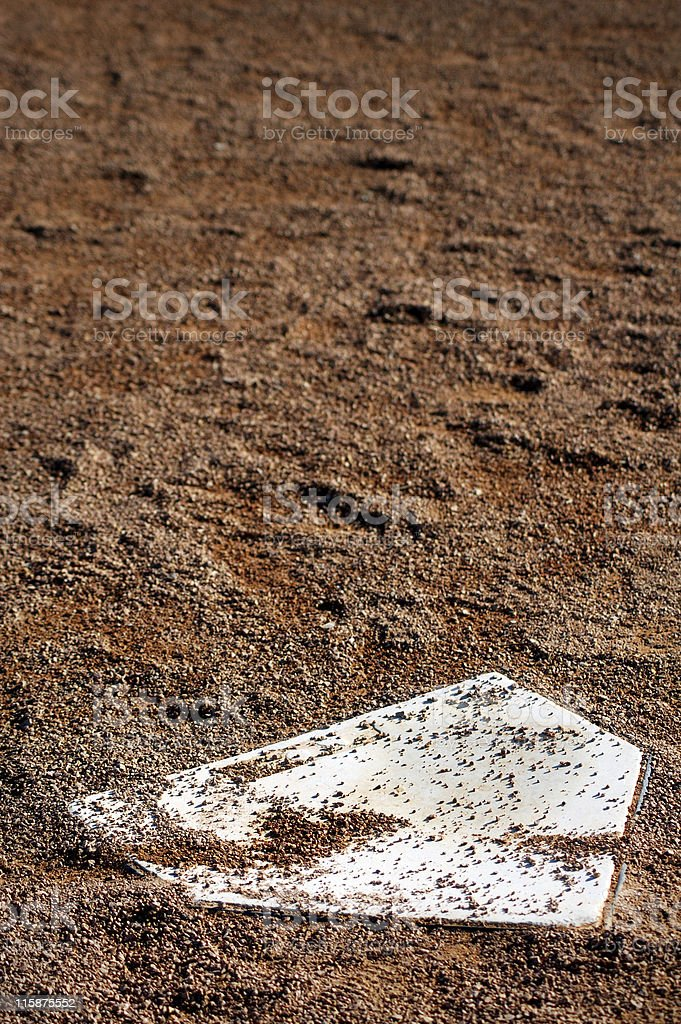 Home Plate Vertical stock photo