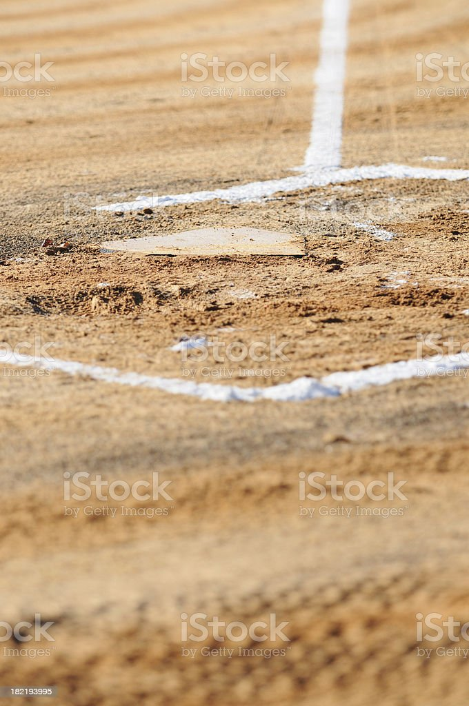 Home plate with copy space royalty-free stock photo