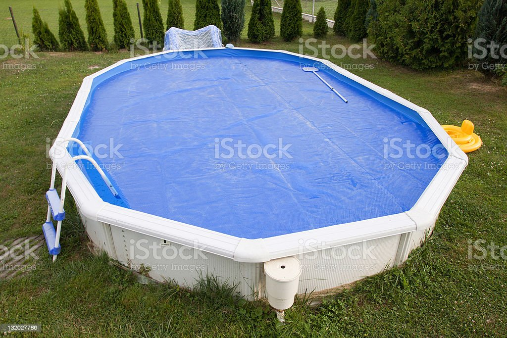 Home pool stock photo
