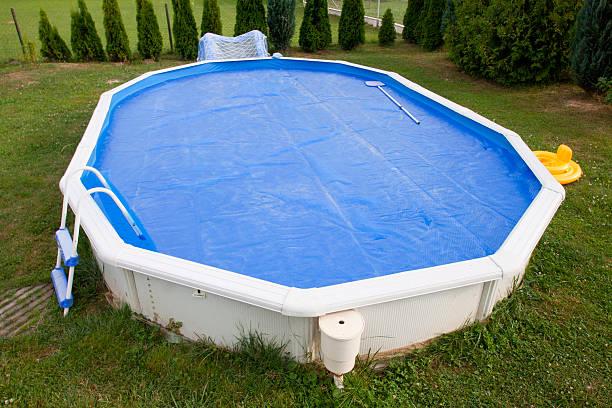 Home pool stock photo
